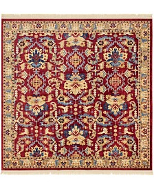 Bridgeport Home Borough Bor1 Red 8' x 8' Square Area Rug