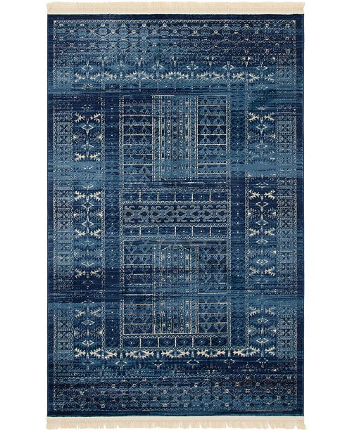 Bridgeport Home Borough Bor4 Blue 5' x 8' Area Rug