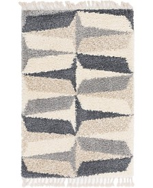 Bridgeport Home Lochcort Shag Loc6 Gray 4' x 6' Area Rug