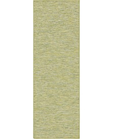 Pashio Pas8 Green 2' x 6' Runner Area Rug