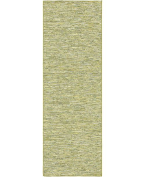 Bridgeport Home Pashio Pas8 Green 2' x 6' Runner Area Rug