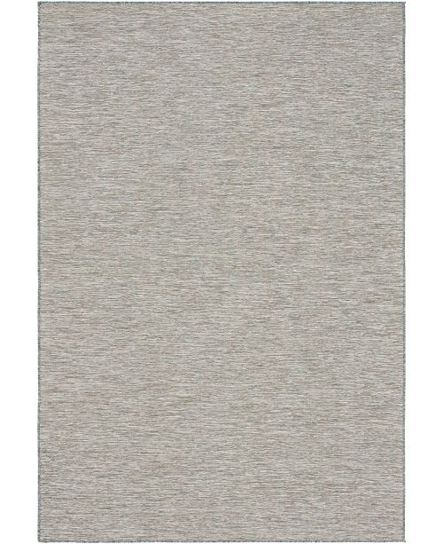"Bridgeport Home Pashio Pas8 Light Gray 6' 3"" x 9' Area Rug"