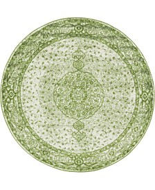 Bridgeport Home Mobley Mob1 Green 5' x 5' Round Area Rug