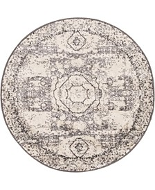 Mobley Mob2 Light Gray 3' x 3' Round Area Rug