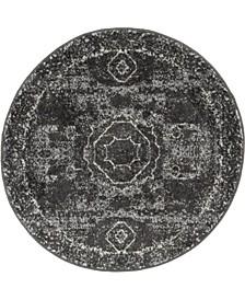 Mobley Mob2 Dark Gray 3' x 3' Round Area Rug