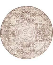 Mobley Mob2 Light Brown 5' x 5' Round Area Rug