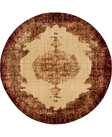 Bridgeport Home Thule Thu2 Red 8' x 8' Round Area Rug
