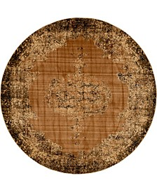 Thule Thu2 Light Brown 8' x 8' Round Area Rug