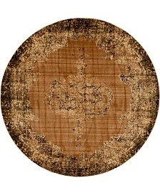 Bridgeport Home Thule Thu2 Light Brown 8' x 8' Round Area Rug