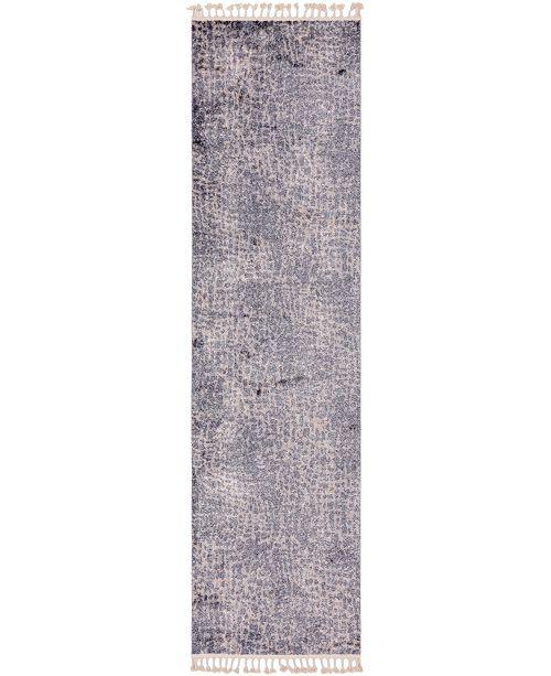 "Bridgeport Home Levia Lev3 Gray 3' 6"" x 13' Runner Area Rug"