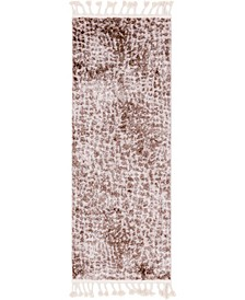 "Levia Lev3 Brown 2' 4"" x 6' Runner Area Rug"