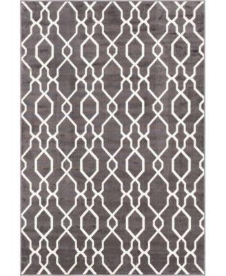 Pashio Pas8 Dark Gray 4' x 6' Area Rug