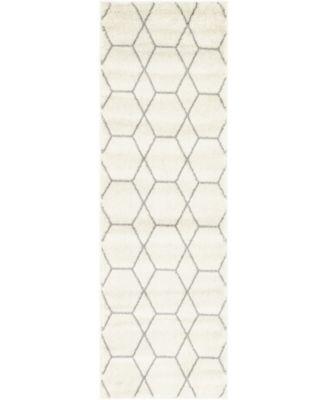 Plexity Plx1 Ivory 2' x 6' Runner Area Rug