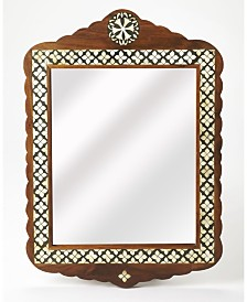 Butler Gabby Wood and Bone Mirror