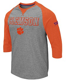 Colosseum Men's Clemson Tigers Team Patch Three-Quarter Sleeve Raglan T-Shirt