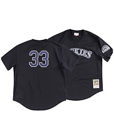 Mitchell & Ness Men's Larry Walker Colorado Rockies Authentic Mesh Batting Practice V-Neck Jersey
