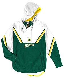 Mitchell & Ness Men's Oakland Athletics Anorak Half-Zip Pullover