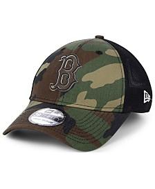 New Era Boston Red Sox Camo Trucker 39THIRTY Cap