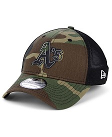 New Era Oakland Athletics Camo Trucker 39THIRTY Cap