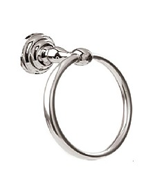 Arista Cascade Towel Ring Chrome Finish