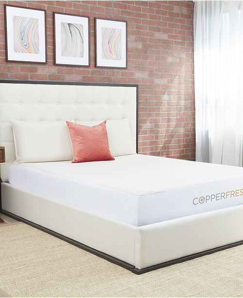 """CopperFresh 2"""" Gel Memory Foam King Mattress Topper with Cover"""
