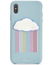 Rainbow Cloud Patch iPhone XS Case