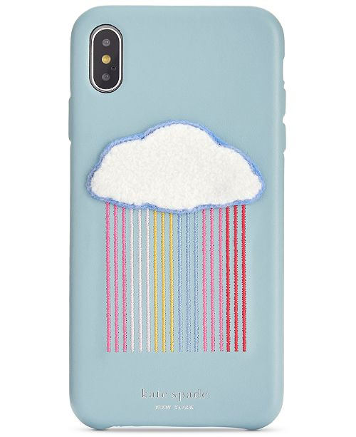 kate spade new york Rainbow Cloud Patch iPhone XS Case