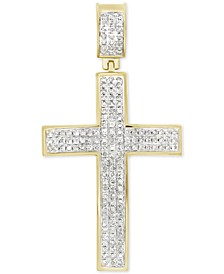 Diamond Cluster Cross Pendant (1/2 ct. t.w.) in 10k Gold