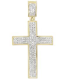 Diamond Cluster Cross Pendant (1/2 ct. t.w.) in 10k Gold