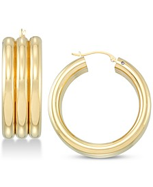 Diamond Accent Triple Hoop Earrings, Created for Macy's