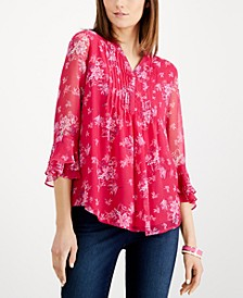 Petite Double-Ruffle Top, Created for Macy's