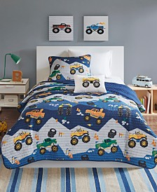 Mi Zone Kids Nash Full/Queen 4 Piece Reversible Coverlet Set