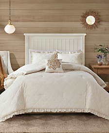 Madison Park Phoebe Full/Queen 4 Piece Quilted Comforter Set