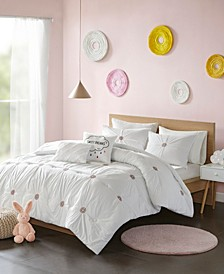 CLOSEOUT! Mabel 5-Pc. Cotton Embroidered Comforter Sets
