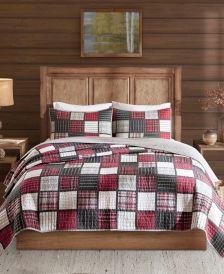 Tulsa Full/Queen 3 Piece Oversized Plaid Print Cotton Reversible Quilt Set