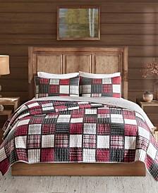 Woolrich Tulsa Full/Queen 3 Piece Oversized Plaid Print Cotton Reversible Quilt Set