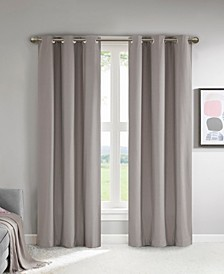 "Lisa 37"" x 95"" Solid Theater Grade Total Blackout Curtain Pair"