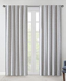 "510 Design Ebon 38"" x 84"" Woven Heathered Total Blackout Curtain Panel Pair"