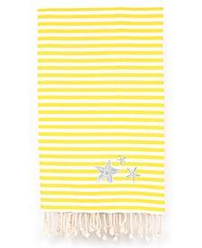 Fun in the Sun Glittery Starfish Pestemal Beach Towel