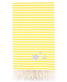 Linum Home Fun in the Sun Glittery Starfish Pestemal Beach Towel