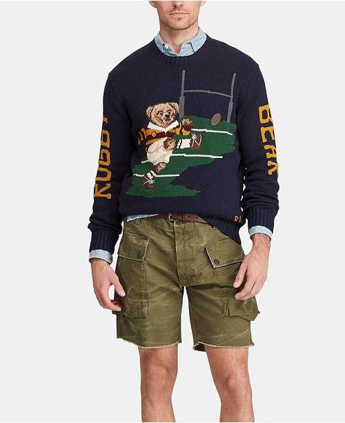 Polo Ralph Lauren Men's Rugby Bear Sweater