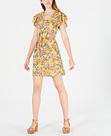 Printed Flutter-Sleeve Dress, Created for Macy's