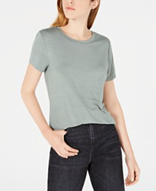 Maison Jules Striped Bow-Back Top, Created for Macy's