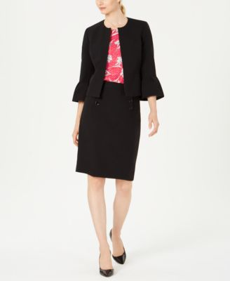 Collarless Bell-Sleeve Jacket