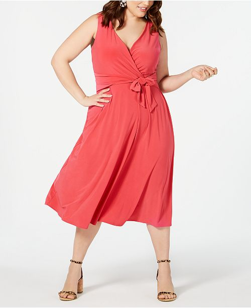 Love Squared Trendy Plus Size Cutout Midi Dress