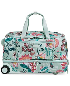 Vera Bradley Lighten Up Foldable Large Rolling Duffle