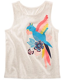 Little Girls Graphic-Print Tank Top, Created for Macy's
