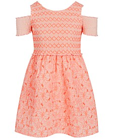Epic Threads Big Girls Smocked Embroidered Dress, Created for Macy's