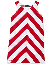 Little Girls Chevron Stretch Ponté Knit Dress