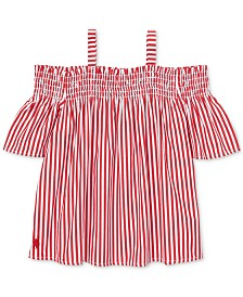 Polo Ralph Lauren Little Girls Cotton Off-The-Shoulder Top